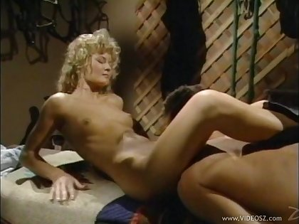 Spicy blonde cowgirl gets fucked hardcore until orgasm in a savory retro shoot