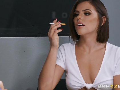 After a blowjob horny Adriana Chechik is ready for rough anal sex