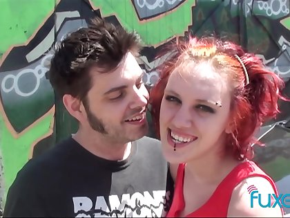 Real horny amateur couple having sex on camera making a homemade porn tape