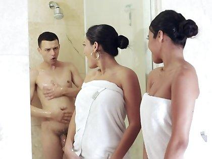 Hot sluts Take Turns Sucking Off Boyfriend