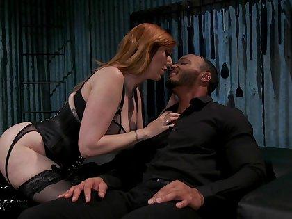Submissive dude is fucked unconnected prevalent hot dominatrix prevalent huge tits Lauren Phillips