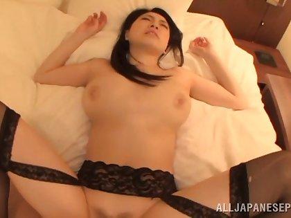 Blindfolded Japanese wife Sena Minami with big natural tits having sex