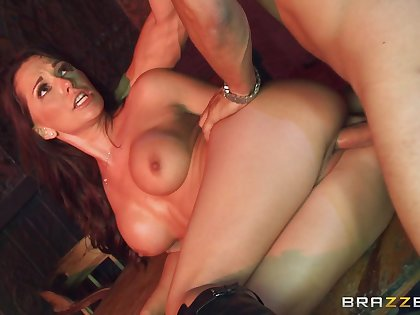 Crestfallen fucking ends with cum in mouth for busty star Destiny Dixon