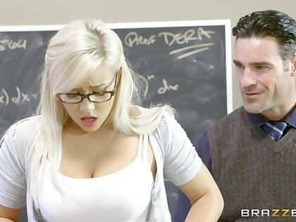 Teen slut Kylie Page gives it up to a well-hung professor